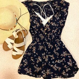 Abercrombie & Fitch Floral Romper